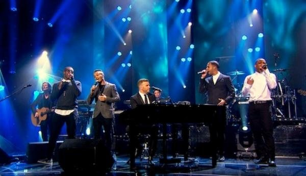 Gary Barlow Reveals Video Clip Of 'Back For Good' Duet With JLS From New Live DVD