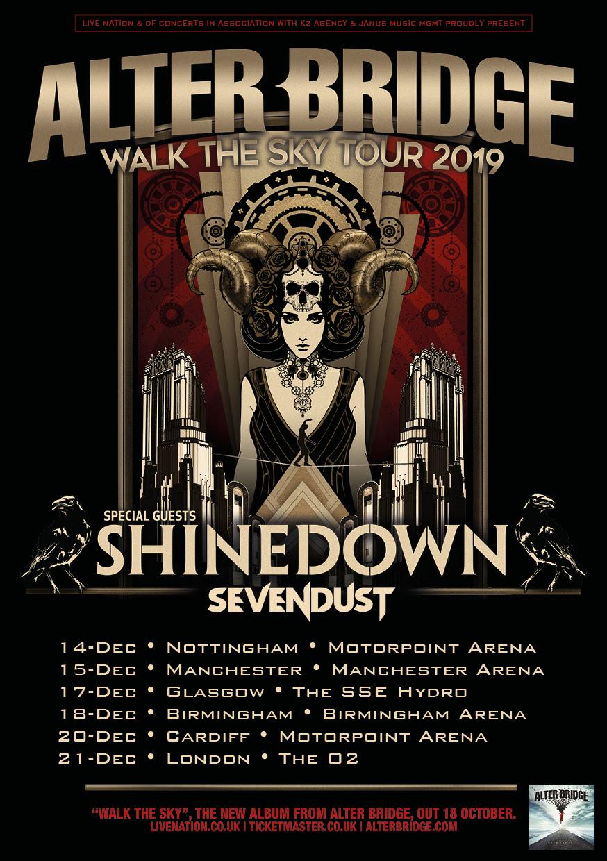 Alter Bridge Announce Walk The Sky UK Arena Tour With