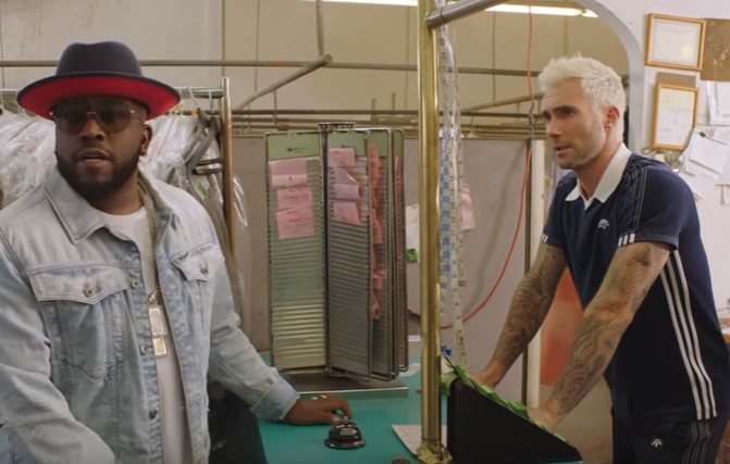 Adam Levine and Big Boi hit the dry cleaners in