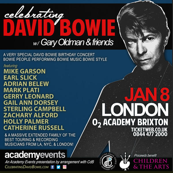 Tribute concert to mark David Bowie's 70th birthday