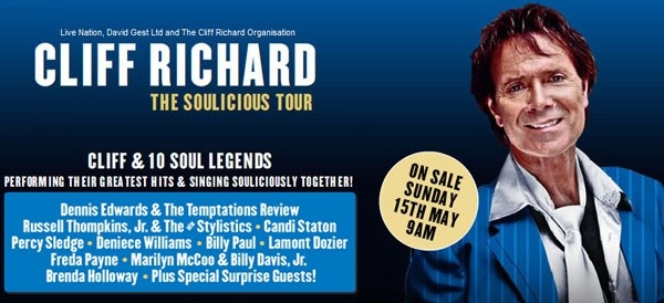 Sir Cliff Richard Announces 'The Soulicious Tour' & Tickets