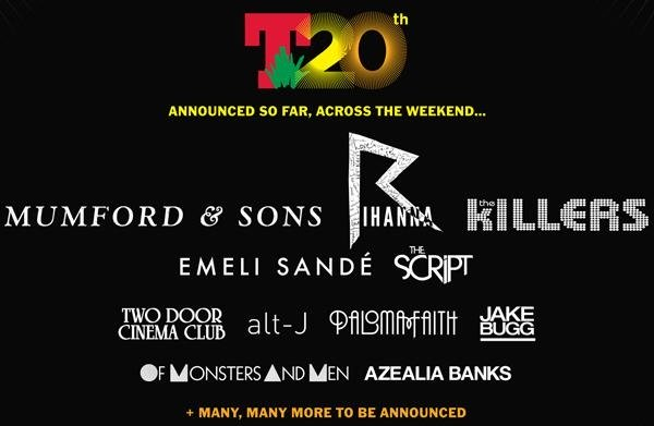 Kraftwerk Join Headliners The Killers, Mumford & Sons And Rihanna At T In The Park 2013