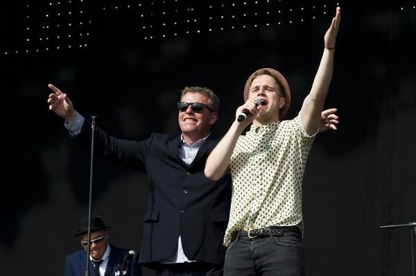 Madness Perform With Olly Murs At V Festival