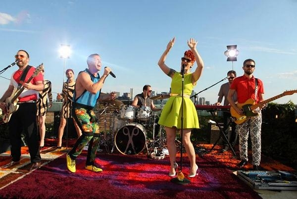 "Scissor Sisters Perform On New York Rooftop For Paco Rabanne ""Black XS Excessive Session"""